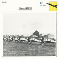 1990 Edito-Service, War Planes Cards, Airplanes, #39.13 Gloster Grebe