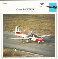 1990 Edito-Service, War Planes Cards, Airplanes, #39.18 Cessna T-37 Tweet