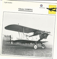 1990 Edito-Service, War Planes Cards, Airplanes, #39.19 Gloster Goring