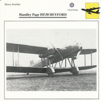 1990 Edito-Service, War Planes Cards, Airplanes, #40.03 Handley Page HP.50