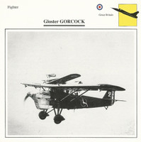 1990 Edito-Service, War Planes Cards, Airplanes, #40.05 Gloster Gorcock