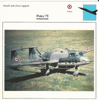 1990 Edito-Service, War Planes Cards, Airplanes, #40.16 Potez 75