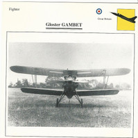 1990 Edito-Service, War Planes Cards, Airplanes, #41.11 Gloster Gambet