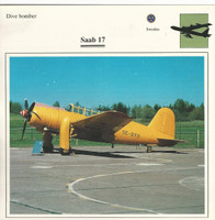 1990 Edito-Service, War Planes Cards, Airplanes, #41.18 Saab 17