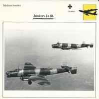 1990 Edito-Service, War Planes Cards, Airplanes, #42.08 Junkers Ju 86