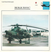 1990 Edito-Service, War Planes Cards, Airplanes, #42.17 Mil Mi-28 Havoc
