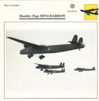 1990 Edito-Service, War Planes Cards, Airplanes, #43.03 Handley Page HP-54
