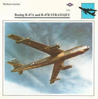 1990 Edito-Service, War Planes Cards, Airplanes, #71.01 Boeing B-47A Stratojet