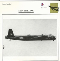 1990 Edito-Service, War Planes Cards, Airplanes, #71.11 Short Stirling