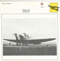 1990 Edito-Service, War Planes Cards, Airplanes, #72.02 Potez 41