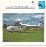 1990 Edito-Service, War Planes Cards, Airplanes, #72.03 Westland Whirlwind