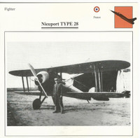1990 Edito-Service, War Planes Cards, Airplanes, #73.10 Nieuport Type 28