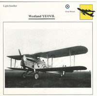 1990 Edito-Service, War Planes Cards, Airplanes, #89.05 Westland Yeovil