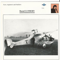 1990 Edito-Service, War Planes Cards, Airplanes, #91.11 Raoul Lufbery, Aviator