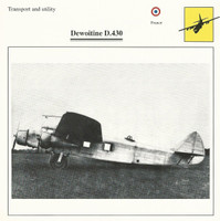 1990 Edito-Service, War Planes Cards, Airplanes, #91.16 Dewoitine D.430