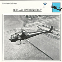 1990 Edito-Service, War Planes Cards, Airplanes, #91.17 Bell Model 207