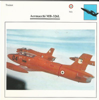 1990 Edito-Service, War Planes Cards, Airplanes, #99.06 Aermacchi MB-326L
