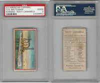 E3 American Caramel, Navy Caramel, 1920's, US BB Kansas, PSA 2 Good