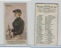 N22 Allen & Ginter, Racing Colors of the World, 1888, D.D. Withers (B)