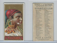 N24 Allen & Ginter, Types of all Nations, 1889, Abyssinia (B)