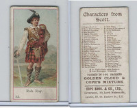 C132-7 Cope, Characters From Scott, 1900, #12 Rob Roy, Scotland