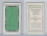S72-21 Sinclair Tobacco, Billiards By Willie Smith, 1928, #6 A Forcing Cross