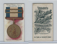 T6-6 Taddy Cigarettes, British Medals, 1912, #5 Captains Gold