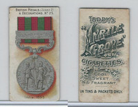 T6-6 Taddy Cigarettes, British Medals, 1912, #25 India