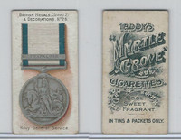 T6-6 Taddy Cigarettes, British Medals, 1912, #26 Navy General Service