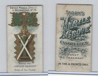T6-6 Taddy Cigarettes, British Medals, 1912, #39 Order of the Thistle