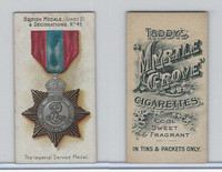 T6-6 Taddy Cigarettes, British Medals, 1912, #45 Imperial Service