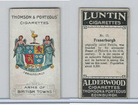T32-1 Thomson & Porteous, Arms British Towns, 1905, #12 Fraserburgh