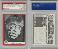 1963 Rosan W528-5, Famous Monsters, #22 The Melting Head, PSA 8 OC NMMT