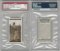 C82-47 Churchman, Famous Golfers, #24 William Hunter, PSA 5 EX