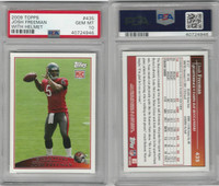 2009 Topps Football, #435 Josh Freeman RC, Buccaneers, PSA 10 Gem