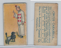 E43 American Caramel, Circus, 1911, Black Poodle With Clown (B)