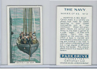 G12-91A Gallaher Cigarettes Card, The Navy, 1937, #2 Hoisting A Sea Boat