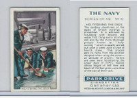 G12-91A Gallaher Cigarettes Card, The Navy, 1937, #10 Holystoning The Deck