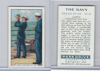 G12-91A Gallaher Cigarettes Card, The Navy, 1937, #12 Cadet's Shooting The Sun
