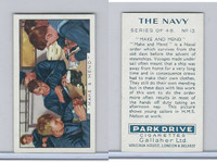 G12-91A Gallaher Cigarettes Card, The Navy, 1937, #13 Make & Mend
