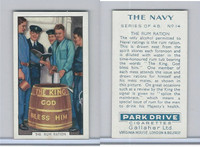 G12-91A Gallaher Cigarettes Card, The Navy, 1937, #14 The Rum Ration