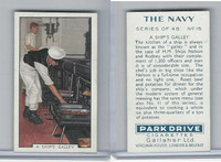 G12-91A Gallaher Cigarettes Card, The Navy, 1937, #15 A Ship's Galley
