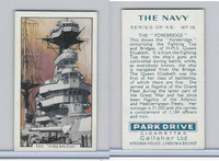G12-91A Gallaher Cigarettes Card, The Navy, 1937, #16 The Forebridge
