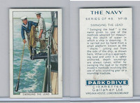 G12-91A Gallaher Cigarettes Card, The Navy, 1937, #18 Swinging The Lead