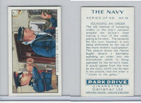 G12-91A Gallaher Cigarettes Card, The Navy, 1937, #19 Sounding An Order