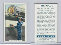G12-91A Gallaher Cigarettes Card, The Navy, 1937, #20 Spit & Polish
