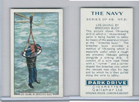 G12-91A Gallaher Cigarettes Card, The Navy, 1937, #21 Breeches Buoy