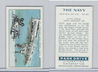G12-91A Gallaher Cigarettes Card, The Navy, 1937, #23 HMS Eagle, Aircraft