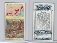 P72-44 Player, Products Of The World, 1908, #12 Opium, China