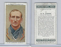 P72-82 Player Tobacco Card, Cricketers, 1934, #15 D.R. Jardine, Surrey